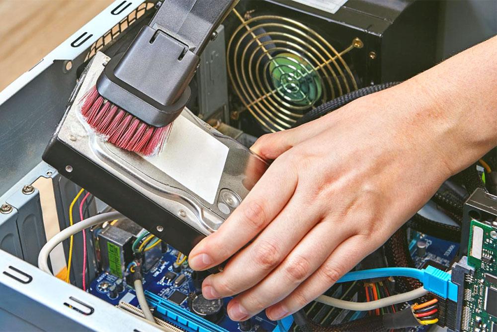 процесс чистки компьютера